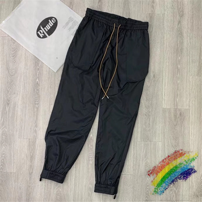 2020 New RHUDE Pants Streetwear Hip-Hop 1:1 High-Quality Drawstring Tracksuit Joggers Gym RHUDE Sweatpants Trousers