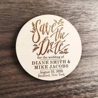 Wooden Magnets, Personalized Save the Date Magnets, rustic save the date,Gift wedding souvenir for guests