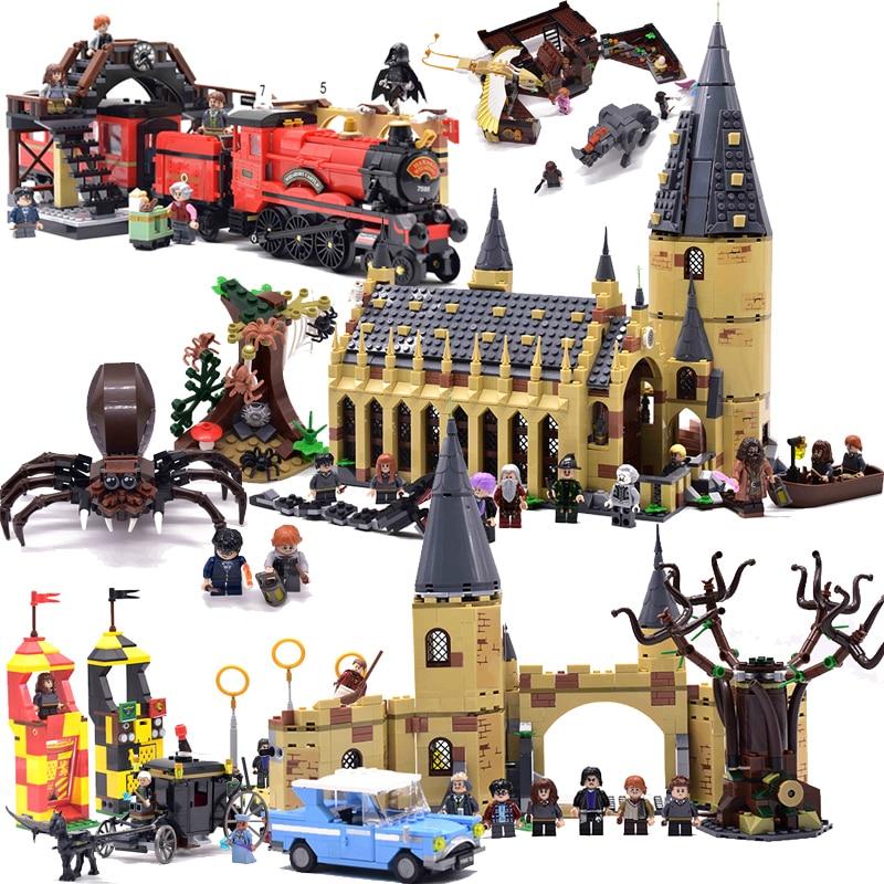 Harri filme 2 castelo expresso trem blocos de construção casa tijolos cidade criador ação legoinglys 75951 brinquedos figura para crianças