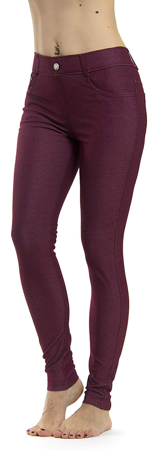 15 pieces Women's Jean Tights Many Colors Spandex Capri S-XXXL2019 CoolMax Poly Cotton