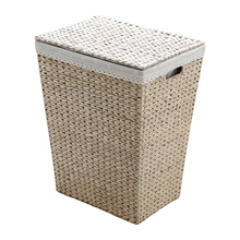 Nordic vine straw clothes storage box laundry basket   with lid   dirty   large size  b