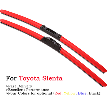 2020 Newst Frameless Colored Windscreen Wiper Blades For Toyota Sienta XP80 XP170 2002 2005 2015 2016 2017 Car Windshield Wipers