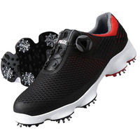 Golf Shoes Men Waterproof Rotating Shoelaces Non slip Sports Spiked Shoes Casual Comfortable Walking Trainers Sneakers