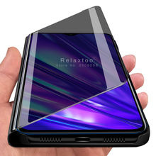 mirror flip case on realme 5 3 2 pro x2 xt x lite cover for