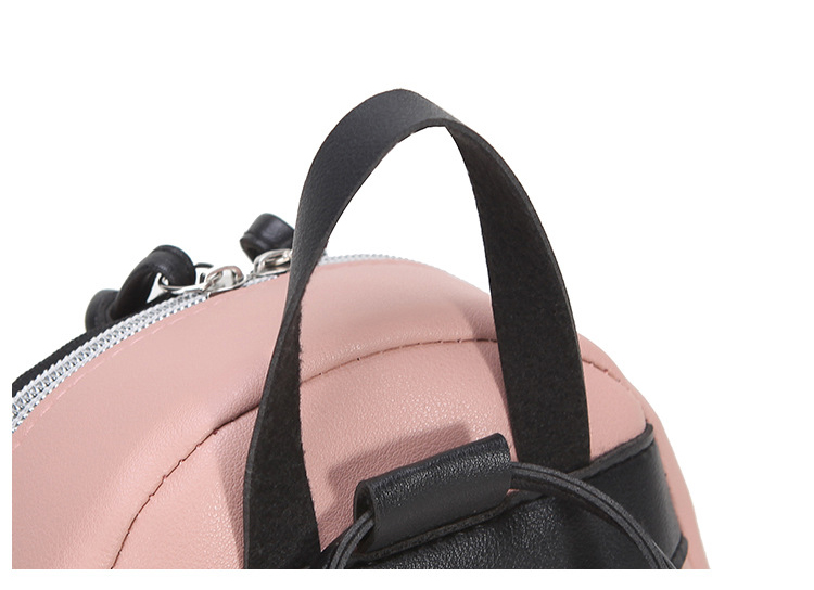 Casual Small Waterproof Backpack Women Solid Color Pu Leather School Bag Simple Mini Zipper Bookbags And Girls Travel Backpacks (20)