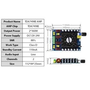 Image 4 - TDA7498E 160 ワット * 2 オーディオデジタルパワーアンプボードクラス d デュアルチャンネルステレオ TDA7498 サブウーファーステレオホームシアターアンプ