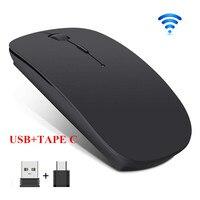 Mouse ottico silenzioso senza fili del Mouse 2.4G USB TAPE-C del Mouse del PC per lo smart phone del PC del computer portatile