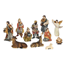 Christmas Home Decoration Gift Elegant Profile Nativity Set Includes Holy Family Resin Figures Gift