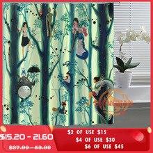 Studio Ghibli Totoro Personalizzata Tenda Della Doccia Bagno Tessuto Per Il Bagno Della Decorazione Della Tenda Della Stanza Da Bagno Su Ordinazione Accettabile H03M26D37