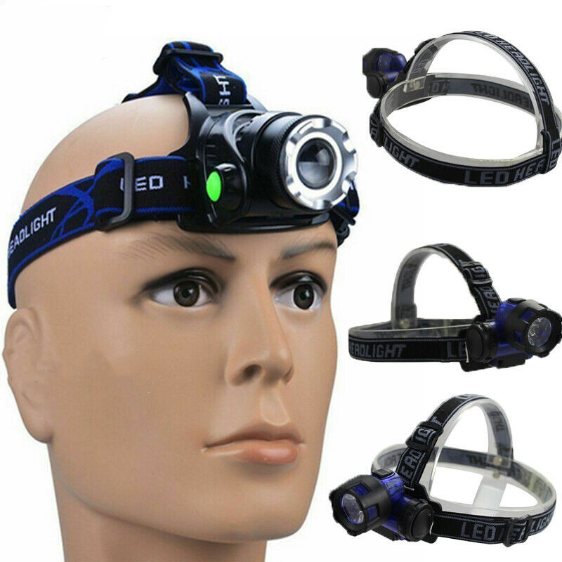 Rechargeable LED Headlamp Outdoor Miner Mining Camping Hunting Cap Light Hiking