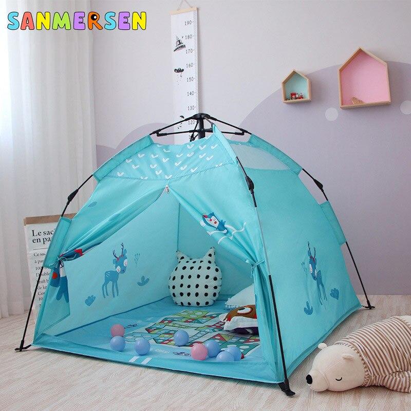 Foldable Children's Tent Toy Indoor Outdoor Tipi Portable Children Tents  Baby Children's Playhouse Tents Kids CartoonTent