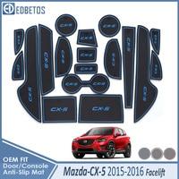 Esteira do sulco da porta para mazda CX 5 2015 2016 facelift cx5 cx 5 mk1 restyle acessórios anti deslizamento esteira porta entalhe coaster interior do carro      -