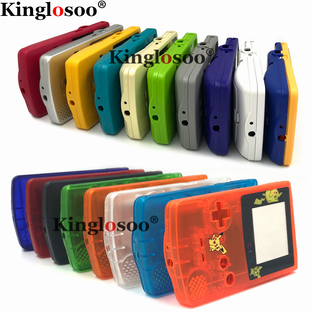 DIY limited edition full game console housing shell cover for Nintendo gameboy color GBC w/ multicolor rubber pads buttons(China)