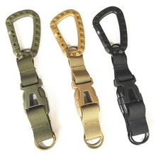 Outdoor Tactical Backpack Hook Keychain Carabiner Rock Climbing Hunting Belt Hook Multi-function Survival Tool Accessories()