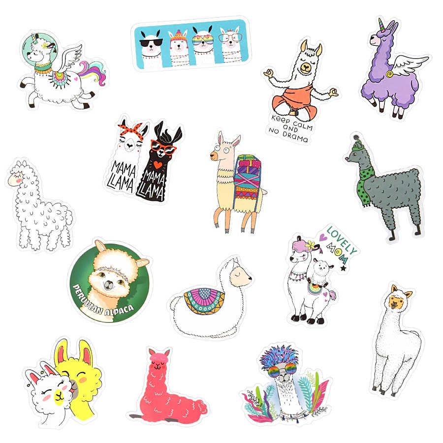 50 PCS Lama Alpaka Nette Aufkleber Kawaii Cartoon Kamel Schafe Tier Aufkleber für Kinder Belohnung Aufkleber Scrapbooking Bike Auto Aufkleber