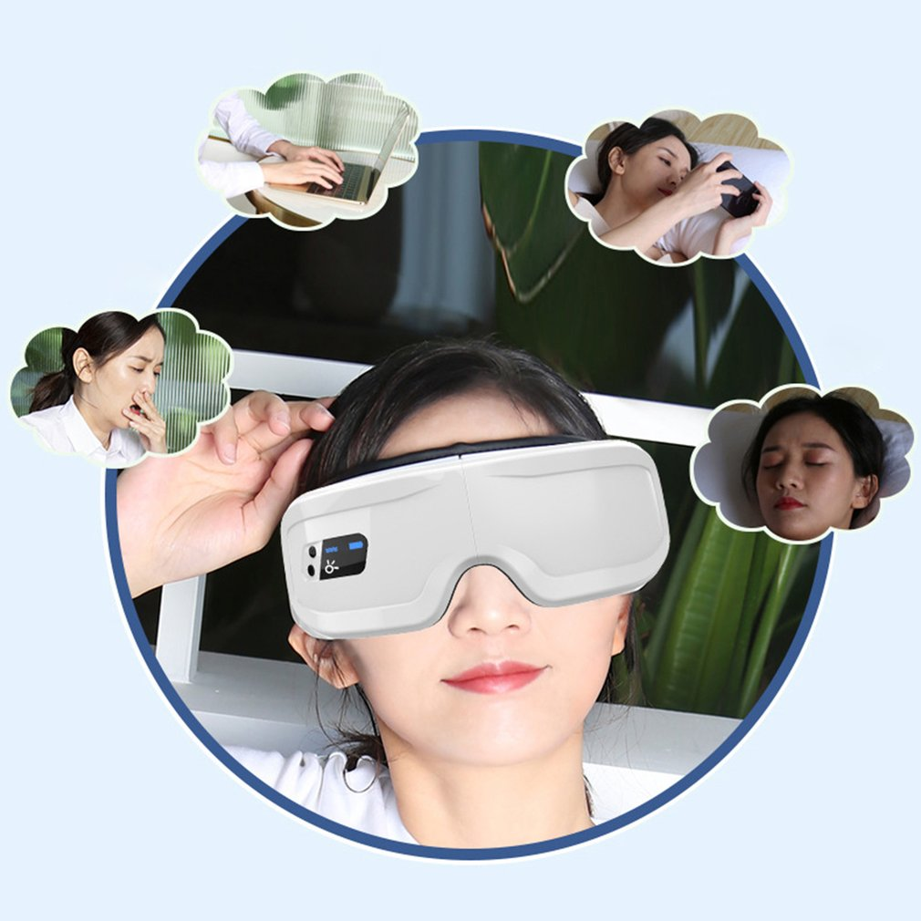 Eye Massage Protector Eye Massager With Vibration Hot Compress And Music Function Wireless Eye Protector