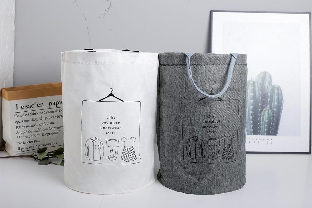 Laundry Basket Picnic Basket Stand Toy Storage Box Bag Cotton Washing Dirty Clothes  Basket Organizer Bin Handle 4050 (5)