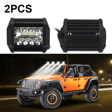 2pcs 4 Car Truck 20-LEDs 3030 LED Working Light Headlight Headlamp IP67 60W 8000LM for car/Motorcycle/Off-road/Truck