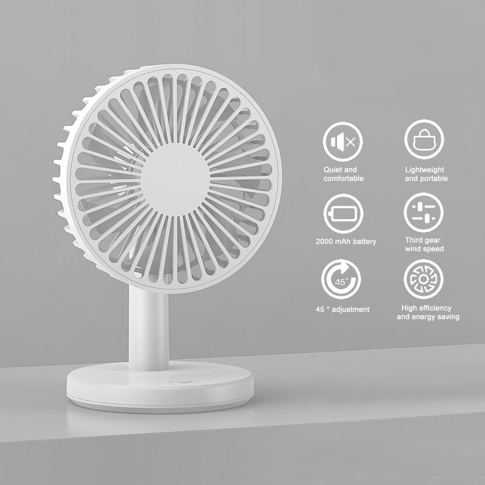 New USB Rechargeable Desk Fan Portable Ultra-quiet Creative Electric USB Fans Silent Mini Desktop Ventilador Fan For Home