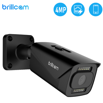 brillcam 4mp hd dual led bullet ip camera with 2 8mm len poe ip67 weatherproof ai sd recording built in microphone security cam Brillcam 4MP HD Dual LED Bullet IP Camera with 2.8mm Len PoE IP67 Weatherproof AI SD Recording  Built in Microphone Security Cam
