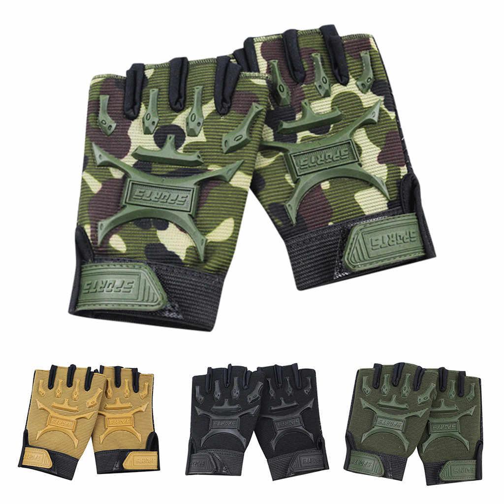 なし手袋高品質軍事ペイントボールエアガン自転車モトクロス戦闘ハーフフィンガーグローブ男性 L58
