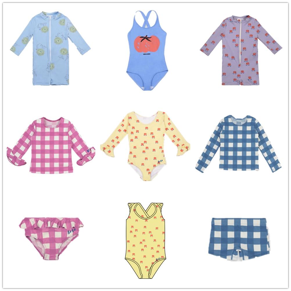 IN STOCK 2021 Children's Swimwear Summer New BC Boys Swimwear Girls Children's Straps Cute Printed Swimwear One-piece Swimsuit