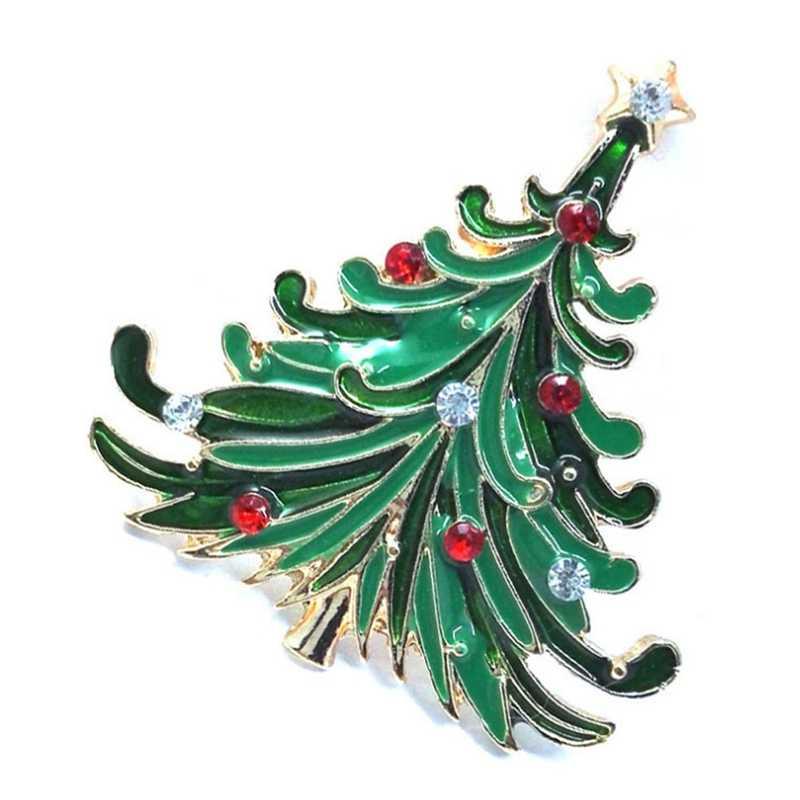 Новая Рождественская елка Броши для женщин со стразами инкрустация модные украшения Праздничная брошь булавки Хороший Подарок Зимнее пальто брошь для головного убора
