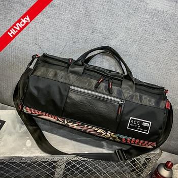 2020 Latest Black Travel Handbag Men's Fashion Classic Messenger Bag High Quality Oxford Cloth PU Women Handbag Shoulder Bag cool style oxford cloth slr camera shoulder bag black
