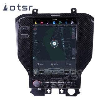 10.4'' Carbon Fiber Vertical Screen Tesla Android 8.1 Carplay Car Radio For Ford Mustang 2015 2016 2017 GPS Navigation Head Unit