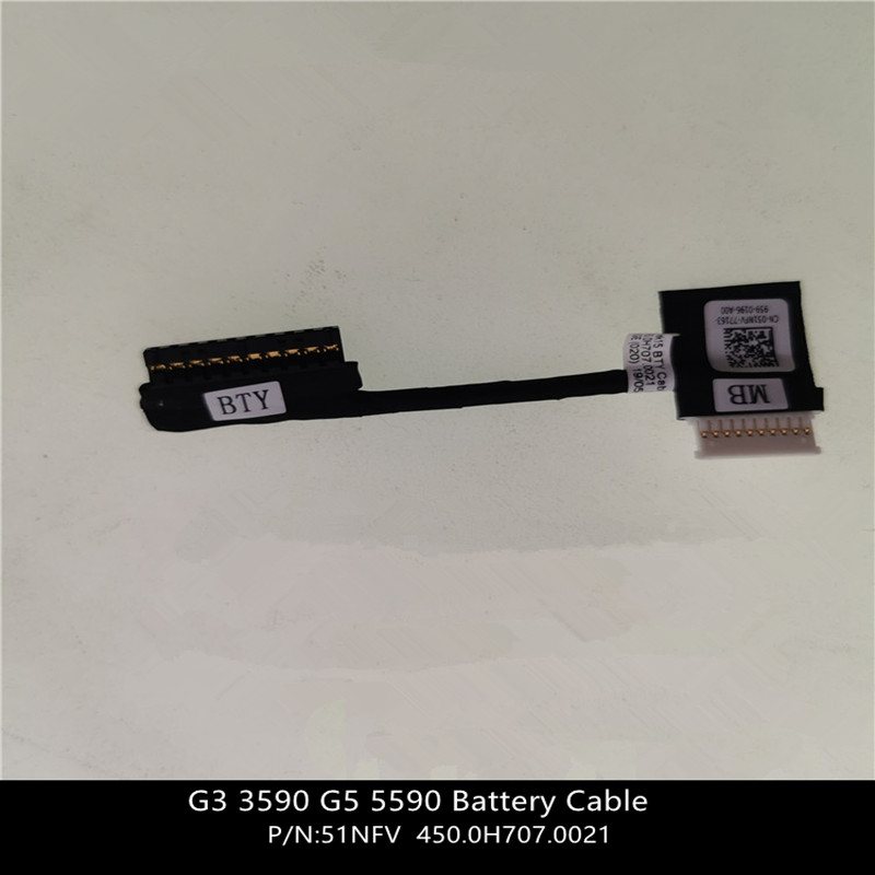 New For <font><b>Dell</b></font> G3 <font><b>3590</b></font> G5 5590 Battery Cable - Cable Only - 51NFV 051NFV 450.0H707.0021 w/ 1 Year Warranty image