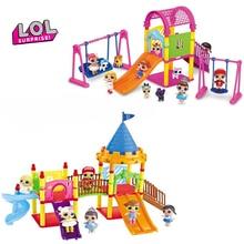 LOL Surprise Dolls Original Toy DIY Paly House Amusement Park Swing Slide Lol Surprises Originales Toys for Girls Birthday Gift park swing garden swing amusement park equipment