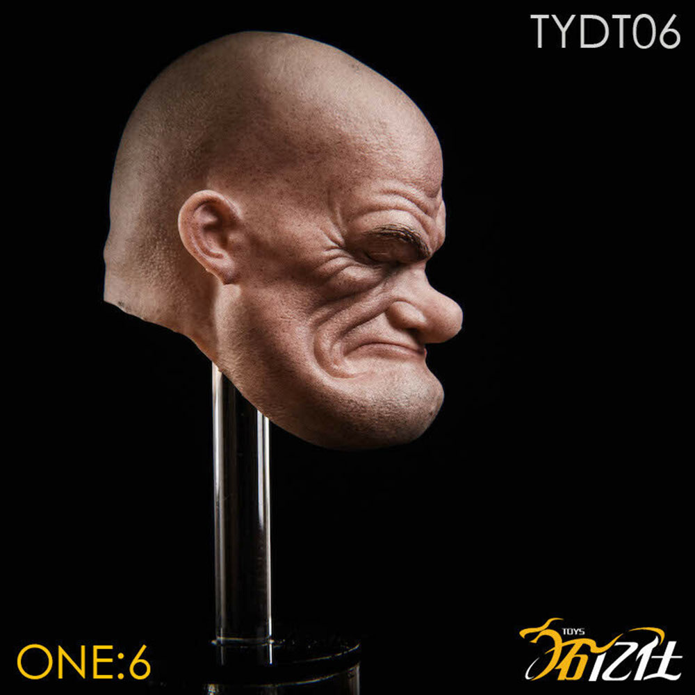 1//6 Popeye Male Head Carving TYDT06 Suitable For PHICEN Muscle Man Body Gifts