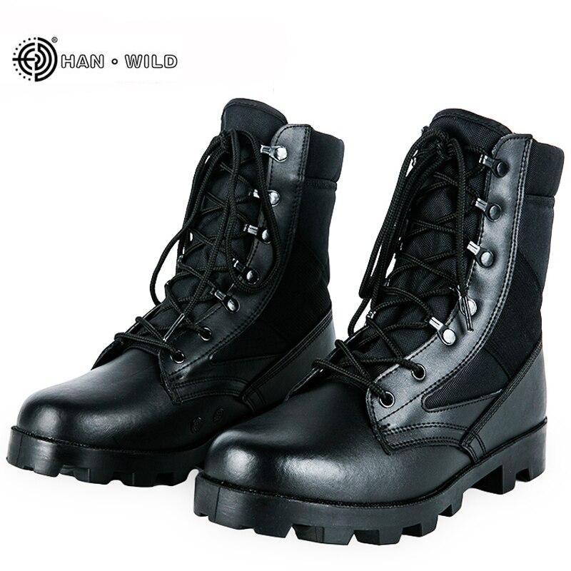 Botas tácticas de invierno 2019 transpirables para hombres, botas de seguridad para el ejército de camuflaje, botas militares de combate