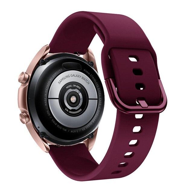 Фото ремешок силиконовый для samsung galaxy watch 3 41 мм 45 спортивный цена