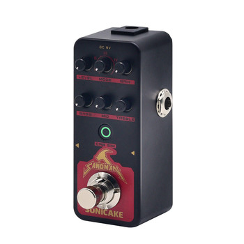 SONICAKE New Launch Digital Pre amp Distortion Guitar Effects Pedal w/h 5 Modern-Style Hi-Gain Guitar Amps Model QSS-09 SANDMAN