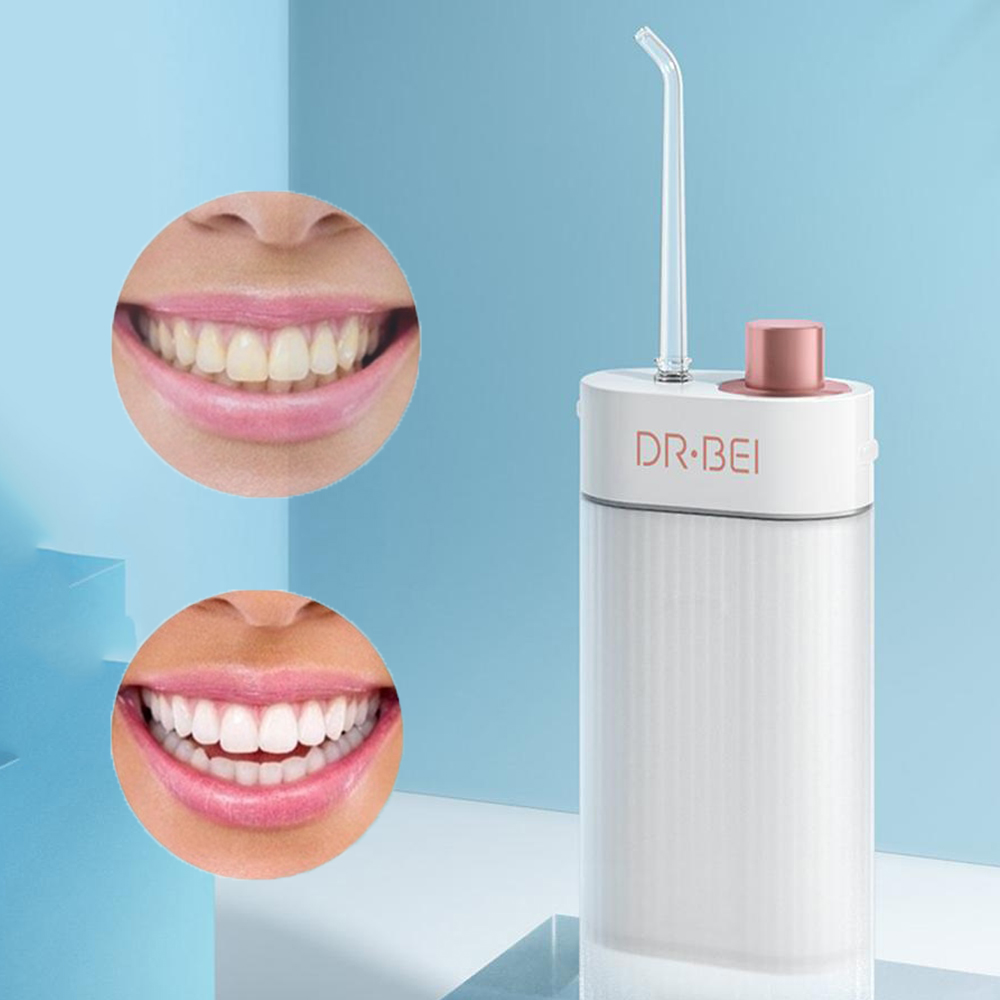 XIAOMI YOUPIN Oral Irrigator Dental Portable USB Rechargeable Water Pick Flosser Irrigator For Cleaning Teeth Rinse Clean Gent
