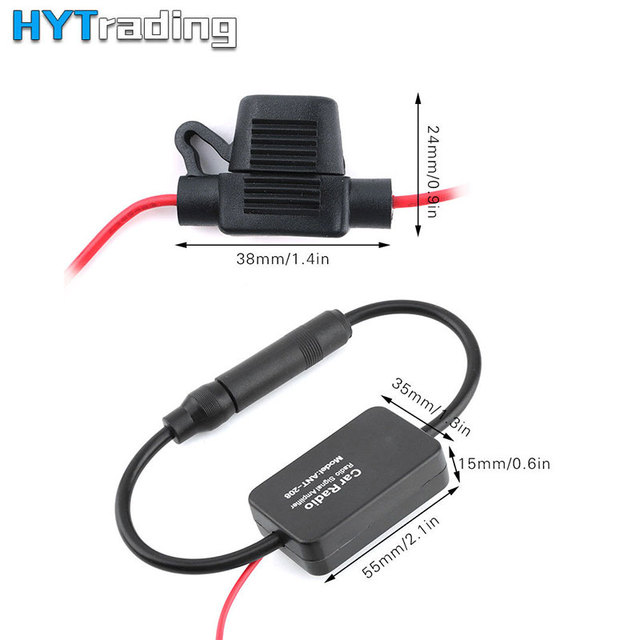 Universal 12V Car Radio FM AM Antenna Signal Amplifier Booster ANT-208 330mm for Marine Car Boat RV Car-Styling