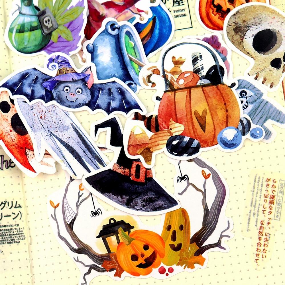 33pcs Watercolor Halloween Demon Kawaii Sticker Decoration Notebook Planner Stikers Scrapbooking/ DIY Bullet Journal Adesivo