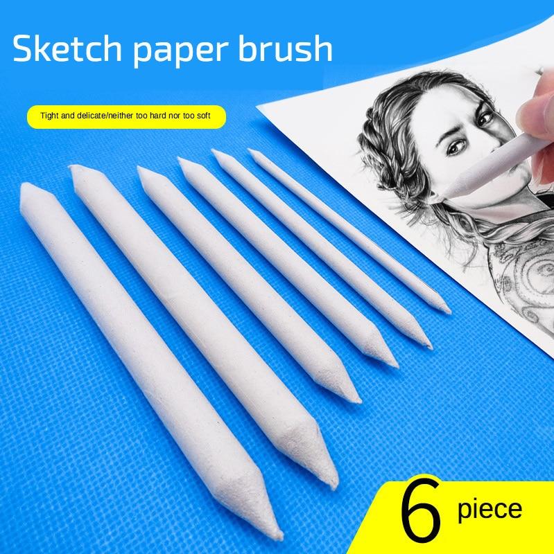 Blending Smudge Stump Stick Tortillon Sketch Art White Drawing Charcoal Sketcking Tool Rice Paper Pen artist Supplies 3/6pcs/set