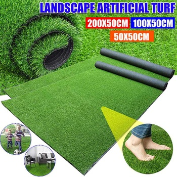 Three Sizes Of 200X50cm/100X50cm/50X50cm Artificial Outdoor Lawn Artificial Carpet Lawn Interior Decoration Lawn Artificial Turf