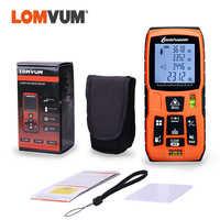 LOMVUM 40M 60M 80M Digital Laser Distance Meter Level Bubbles Battery-Powered Laser Rangefinder Handheld Tape Distance Measurer
