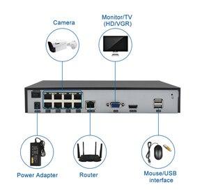 Image 2 - Kaleci H.265 4CH /8CH POE NVR HD 1080P 2MP POE IP ses kamera PoE NVR 48V 802.3af P2P ONVIF ağ Video kaydedici