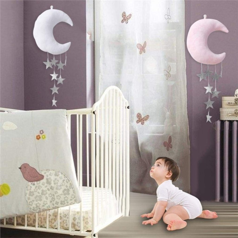 Children'S Room Moon Stars Wall Hanging Ornaments Room Decoration Nordic Home Scene Photo Props Decoration