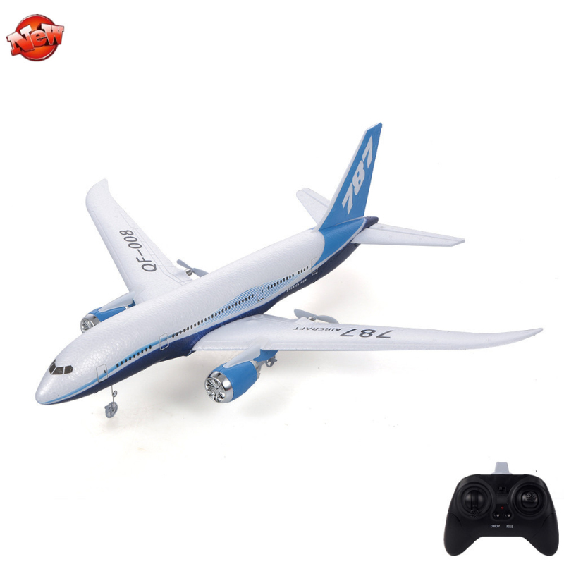 Outside 300M Distance Electric RC Plane Civil Airliner Model 2.4G Self-Stabilizing System DIY Assembly Remote Control Aircraft image