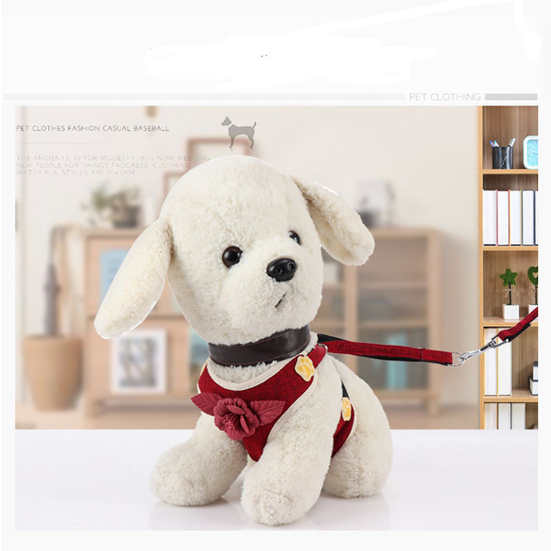 Hot Selling Teddy Puppy Cat Chest And Back Formal Dress Tractor With Rope Dog Set Pet Supplies