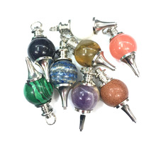 Round Bead Shape Semi-Precious Stones Natural Pendant Charm For Jewelry Making Necklace Accessories GIft For Women Size 18mm
