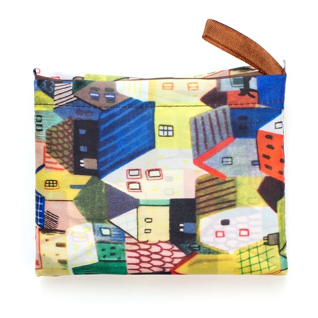 Big Size Thick Nylon Large Tote ECO Reusable Polyester Portable Shoulder Women's Handbags Folding Pouch Shopping Bag Foldable 3