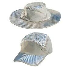 Круглый Кепки Рыбацкая шляпа льда солнцезащитный охлаждающий
