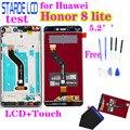 Für Huawei Honor 8 lite LCD Display PRA-TL10 PRA LX1 LX3 Touchscreen 5,2 zoll Digitizer Montage mit Rahmen Bildschirm ersatz