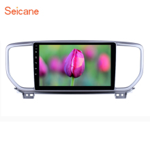 Seicane 2din HD Touchscreen 9 inch GPS Navi Radio Android 8.1 for Kia Sportage R 2018-2019 with Bluetooth USB support Carplay